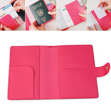 4 Color Sweet Bowknot Buckles Passport ID Card Holder Protect Cover Case