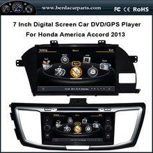 Car DVD For Honda Accord America Version With GPS Navigation Stereo Radio Bluetooth (TV option) Free Map
