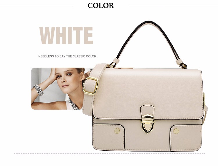 Japan And Korean Style Solid Color Flp Small Bag Women Fashion Patchwork Ladylike Handbag Famous Brand Push Lock Shoulder Bag