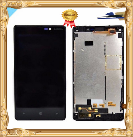 Original For Nokia Lumia 820 RM-825 Touch Screen Digitizer+LCD Display Digitizer Assembly With Frame Free Shipping and tools