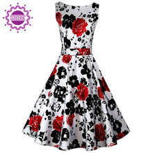 Fashion Spring Summer Autumn Women Casual Dress Vintage Bohemian Floral Sleeveless O-Neck Vest Flower Printed Slim Vestidos(China (Mainland))
