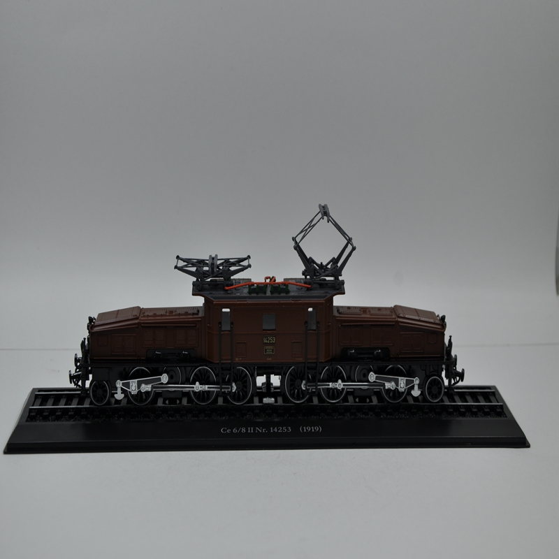 THE ATLAS antique model train TOYS 1/87 EDITIONS CE 6/8 II NR.14253(1919) Static Alloy trajectory train model(China (Mainland))