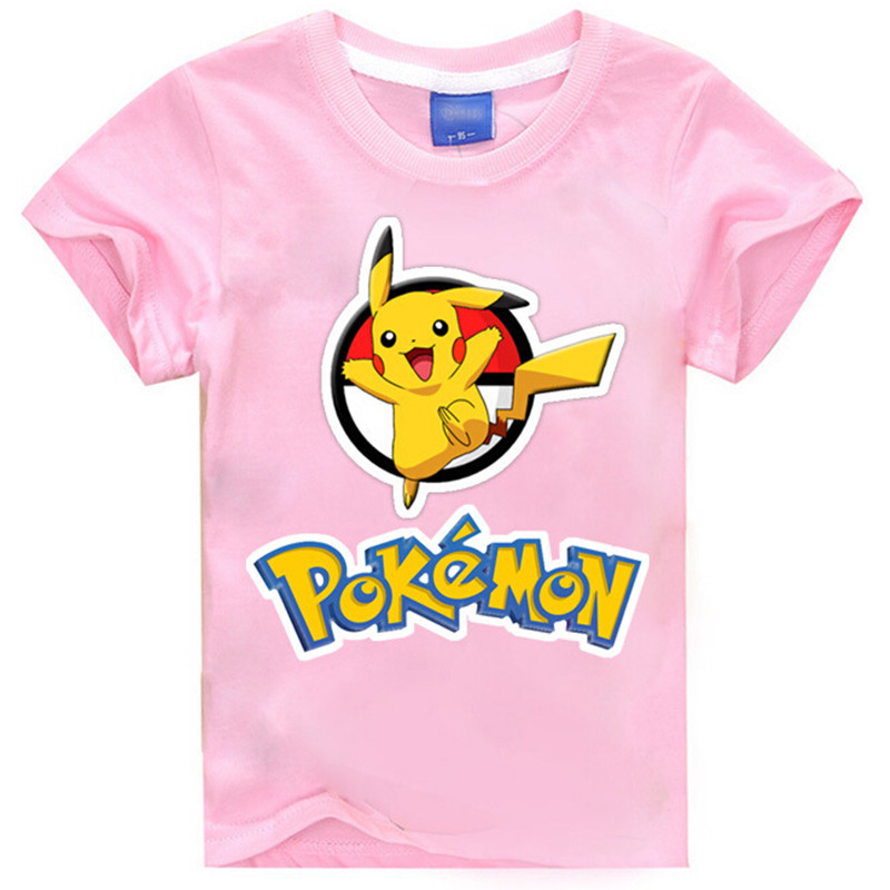2016 font b POKEMON b font GO kids t shirt baby girl clothes short sleeve tshirt