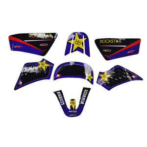 High Quality Graphics Motorcycle Accessories Decal Stickers Kit for YAMAHA PW50 PW 50 (Blue&Black)(China (Mainland))