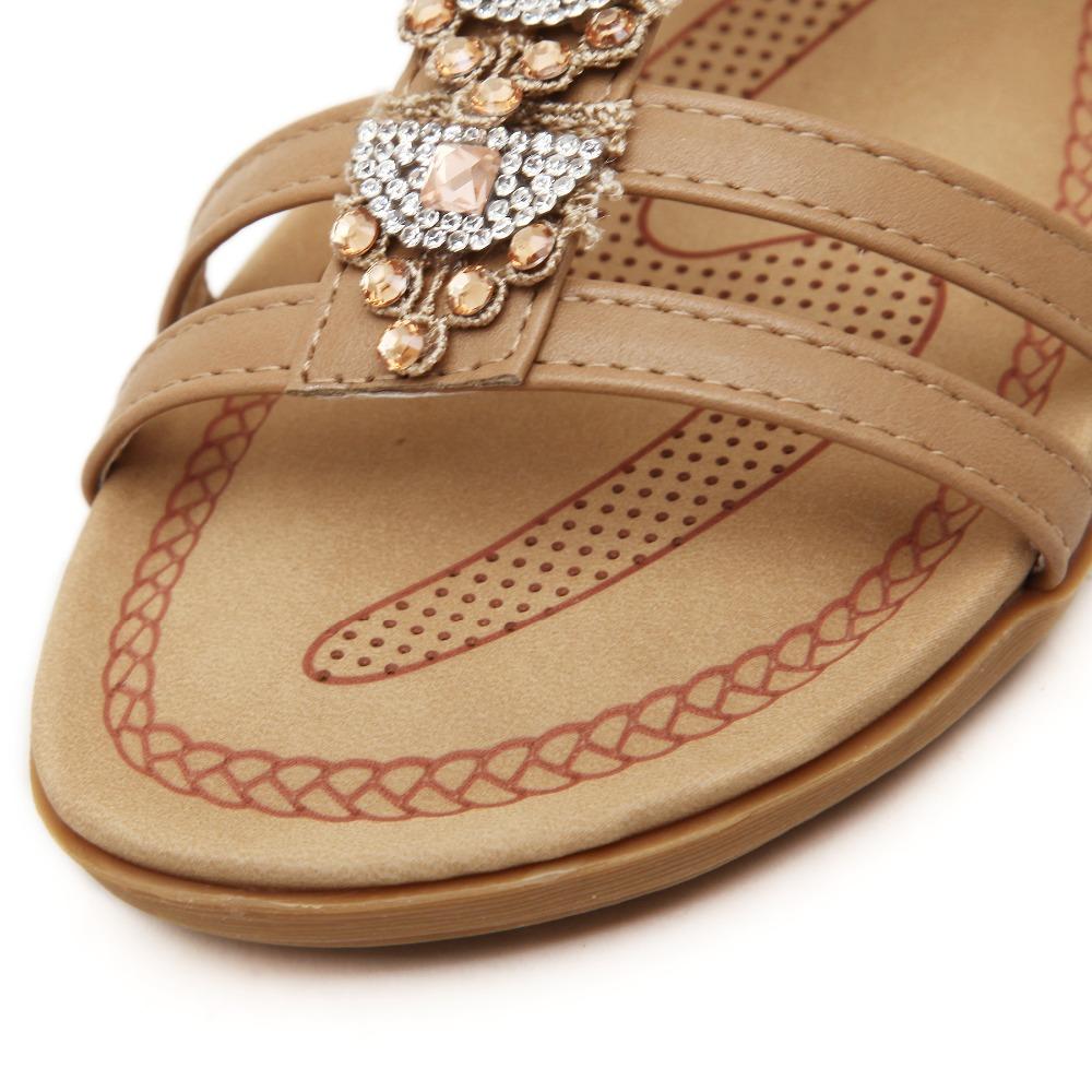 Fashion women sandals summer shoes sandalia rasteirinha feminina flat gladiator sandals women size 35-40