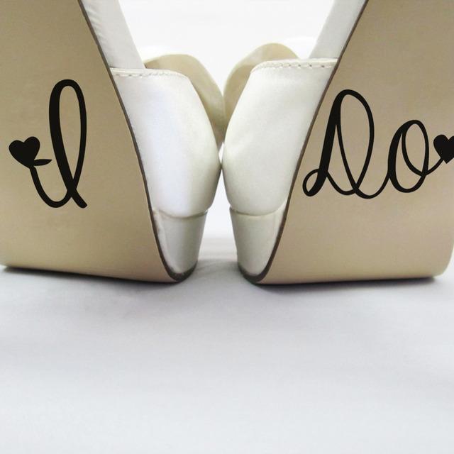 Делать свадьба декор свадьбы пропуск обуви чашка наклейки украшения