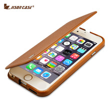 "Jisoncase Genuine Leather Case For iPhone 6 6s 4.7 inch Stand Folio Flip Case For iPhone 6 Plus 6s Plus 5.5"" Luxury Brand Cover(China (Mainland))"