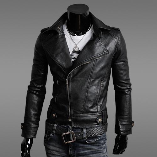 High Quality Men Zipper Jacket Faux Leather Fashion Slim Motorcycle Jacket Men Coat Masculino Windbreaker Tops Size M-2XL
