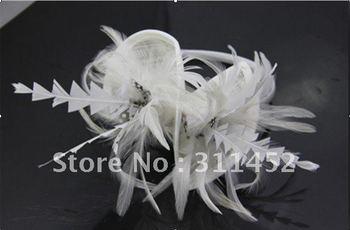 free shipping,fascinator headpiece,feather fashion  hair accessory,sinamay hats,6pcs/lot,il cerchietto