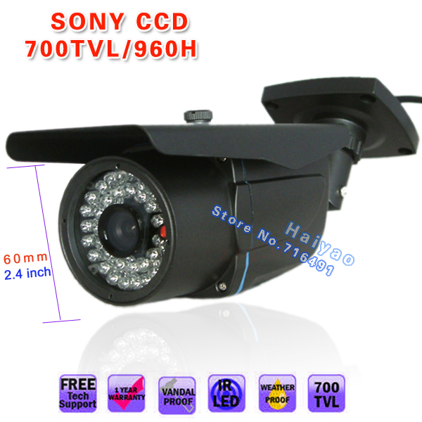 "1/3"" SONY Effio-E EXview HAD CCD II 700TVL outdoor Waterproof 6mm IR monitor wall bracket CCTV SECURITY Surveillance CAMERA(China (Mainland))"