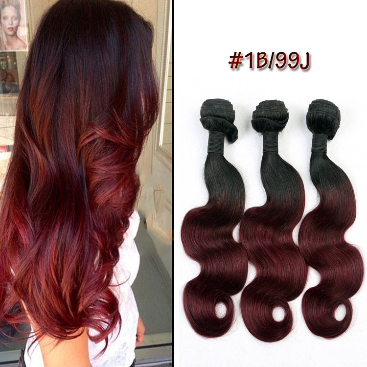 7A Grade Hair Weave Two Tone Ombre Weave12~26 3pcs/pack 100% Brazilian Virgin Hair Body Wave Ombre Hair Extension<br><br>Aliexpress
