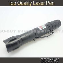 Top Quality Laser 300mW Green Laser Pointer Pen 532 nm Laser Flashlight(China (Mainland))