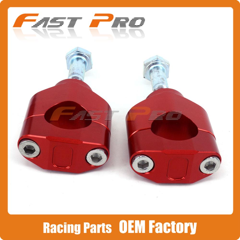 1 1/8 inch Billet HandleBar Fat Bar Risers Mount Clamp CR CRF CR125 CR250 CRF250R CRF450R CRF250X CRF450X Dirt Bike Motocross Enduro - Fast Pro racing store