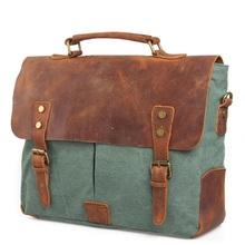 Men and Women Vintage Waterproof Sport Bag Suitcase Retro Style Crazy-horse Leather Messenger Travel Shoulder Bag (China (Mainland))