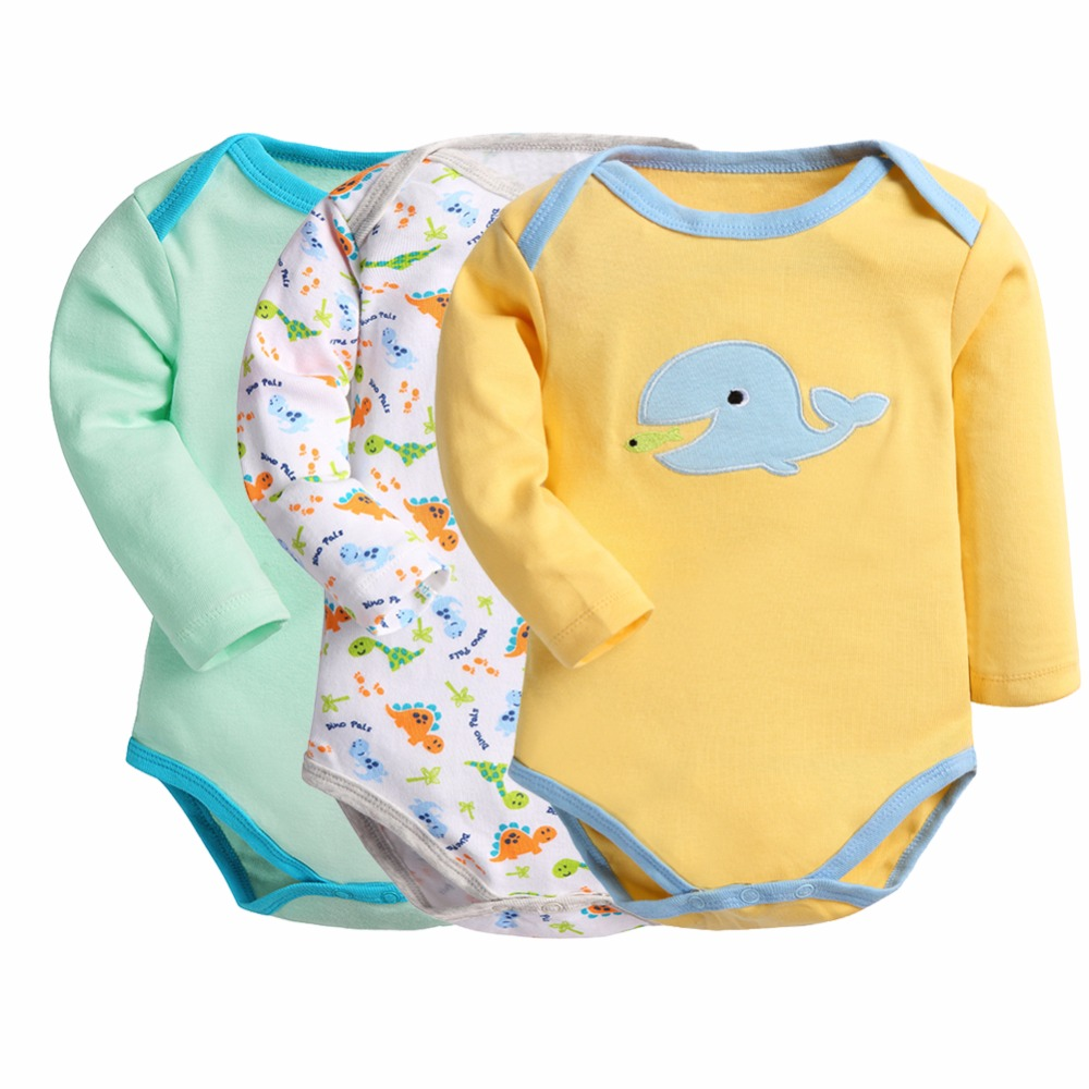 Retail 3 Pieces/lot Cartoon Style Baby Girl Boy Winter Clothes Body Baby Ropa Bebe Next Baby Bodysuit Kids Pajama Supercolor(China (Mainland))