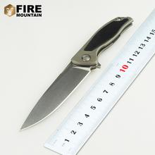 BMT 95 Survival Folding Knife Ball Bearings Flipper D2 Blade Titanium G10 Handle Camping Knife Outdoor Tactical Pocket Knives