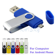 Smart Phone USB Flash Pen Drive OTG Micro USB Fold Storage Computer U Disk Swivel Memory Thumb 8G 16G 32G for PC Android Phone