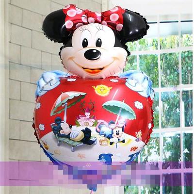 5pcs/lot New cartoon balloon aluminum film Minnie head Mickey balloon wedding site layout a birthday party for Valentine's day(China (Mainland))
