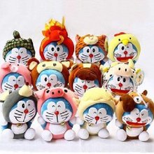 japan anime Doraemon Chinese zodiac plush doll set b0863