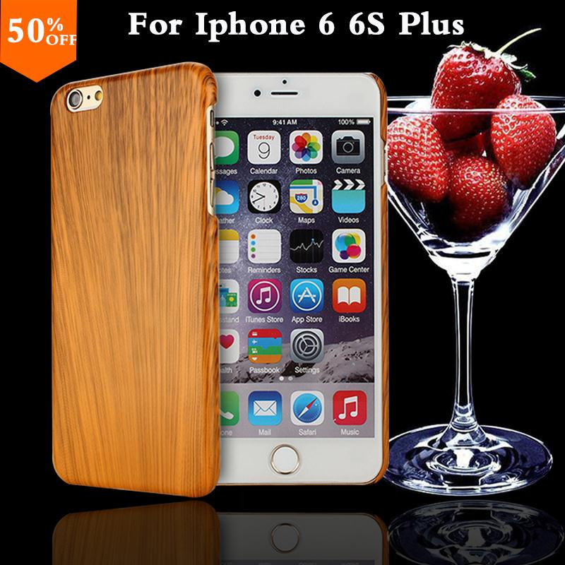 2016 wood grain wooden case for apple iphone6 iphone 6 6s plus 6plus 5.5 wood skin case with hard by cover mobile phone covers(China (Mainland))