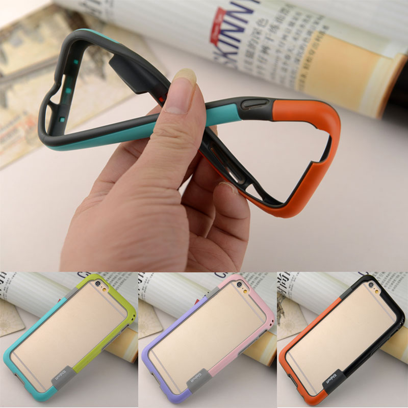 2016 Hot Discount Fruit Colors Soft Tpu Bumper Silicone For Iphone 4 4s 5 5s 6 6 Plus Bumper Cover Side Protective Frame F00037(China (Mainland))