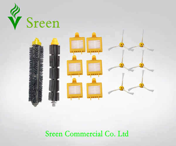 1 Set Brush Kit + 6 Filters + 6 Side Brush 3 Armed for iRobot 700 Series 760 770 780 790 Robots Vacuum Cleaning(China (Mainland))