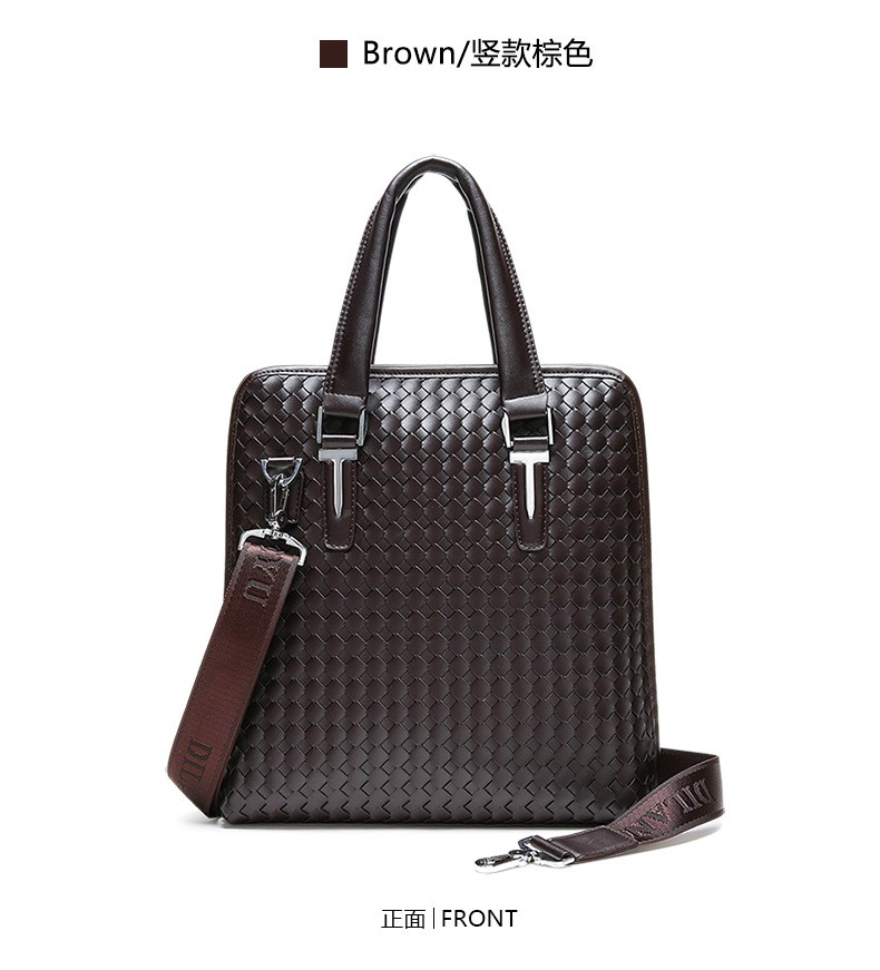Men Business Synthetic Leather Weaving Briefcase Male Travel Messenger Shoulder Portfolio Laptop Bags Causal Lawer Handbag Bolsa (26)