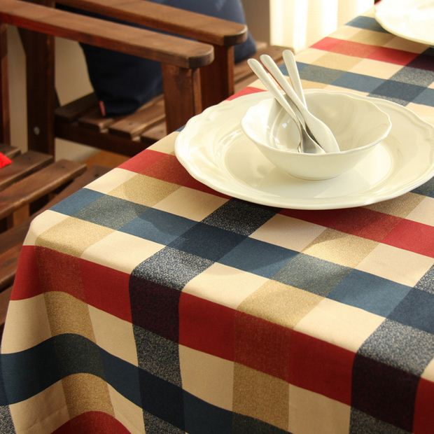 100% Cotton Table Cloth English Style Plaid Print Multifunctional Tablecloths Coffee Tea Table Cover High Quality ZB-20(China (Mainland))