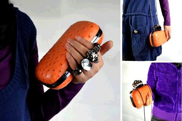 Free shipping! ! HOT 9 colors Skull clutch rings handbag evening bag chain bag.Imitation Camel leather bag G20466(China (Mainland))