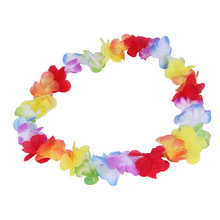 1pc Colorful Flower Garlands Hawaiian/Tropical Party Fancy Dress Necklace new arrival(China (Mainland))