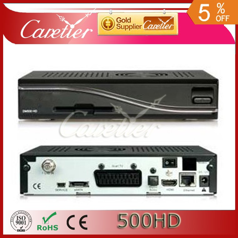 2012 hot free shipping DM500HD ,DM500 hd satellite receiver DVB S2 500hd linux receiver Enigma 2(1pc 500hd)(China (Mainland))
