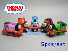 5pcs/lot diecast metal thomas and friends train the tank engine trackmaster toys for children kids Lady/ Roise/ Percy/ Mike(China (Mainland))