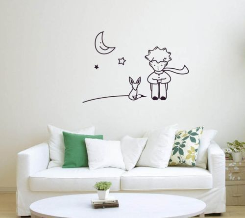 43x 26cm Wall Stickers The Little Prince Fox Moon Star