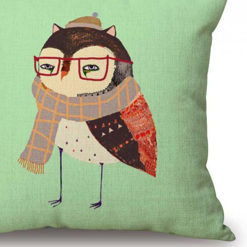 Free Shipping Forest Owl Couple Love Forever Seat Cushion Cotton Sofa Cushion Home Factory Decoration 45