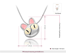 ROXI Christmas Gift New Fashion Jewelry Platinum Plated Statement Cute Cat Necklace For Women Party Wedding
