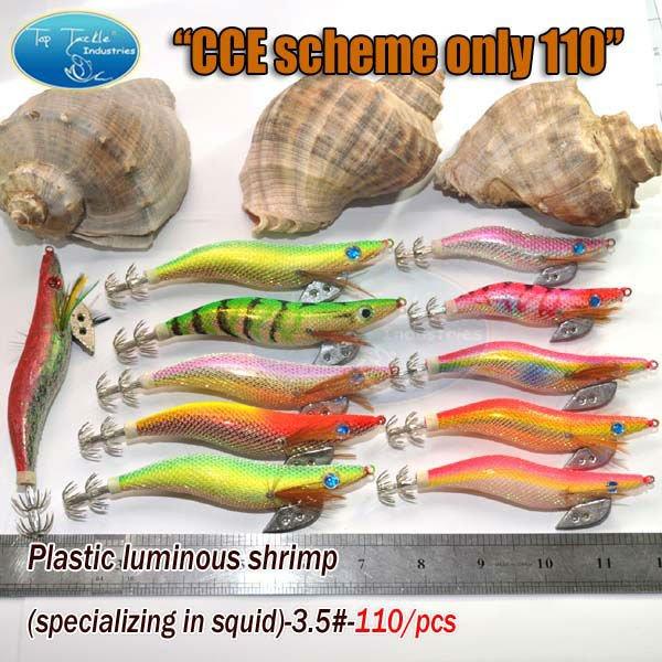 fishing lure-Plastic luminous shrimp-110pcs -CCE SCHEME ONLY 110<br><br>Aliexpress
