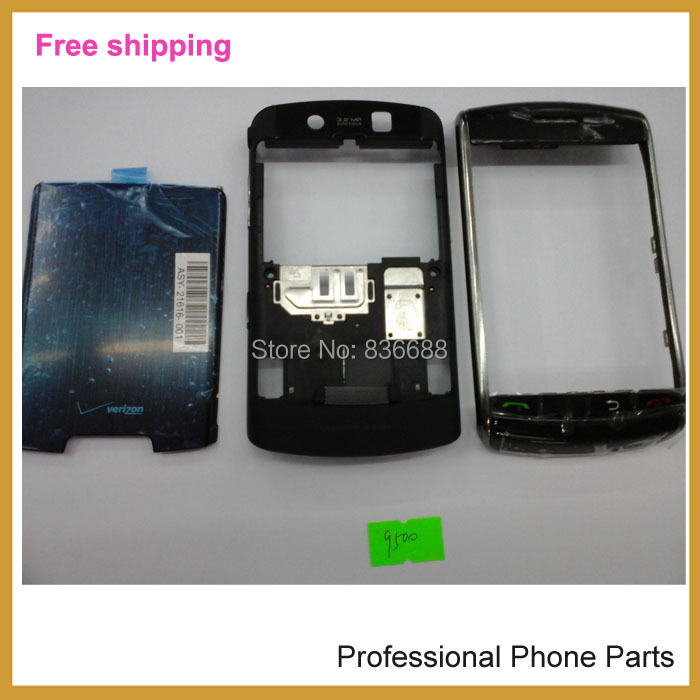 100% Original complete Full Set Housing +Battery Door Back Cover Case For Blackberry Storm 9500 9530 Housing, Free Shipping(China (Mainland))
