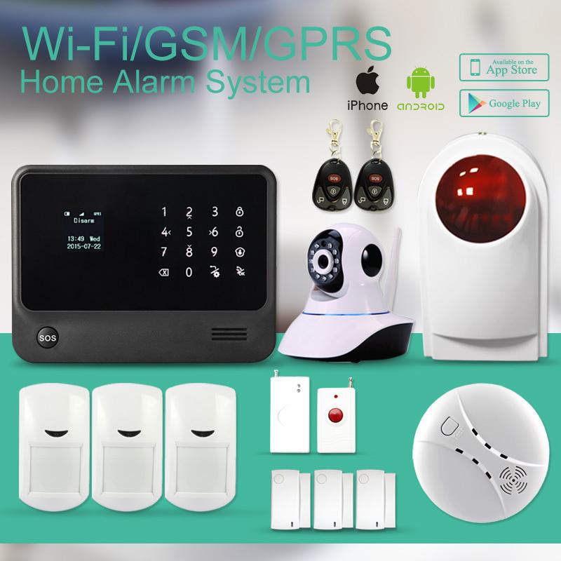Word menu GSM+WIFI alarm system support IP camera ,Smart ...
