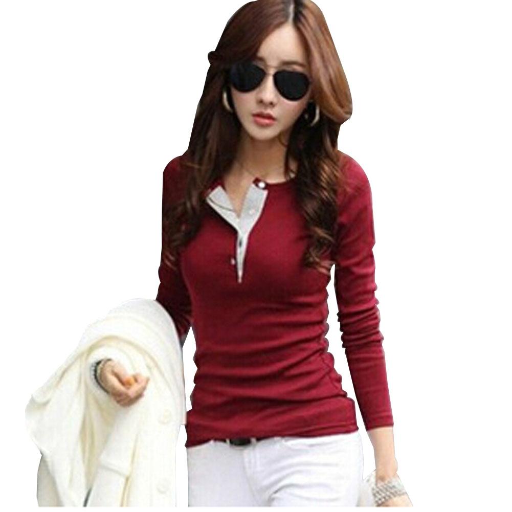 Casual T Shirt Women Blouse Long Sleeve Plus Size Shirt Women Clothing Women Tops Blouses Camisas Roupas Blusas Femininas (China (Mainland))
