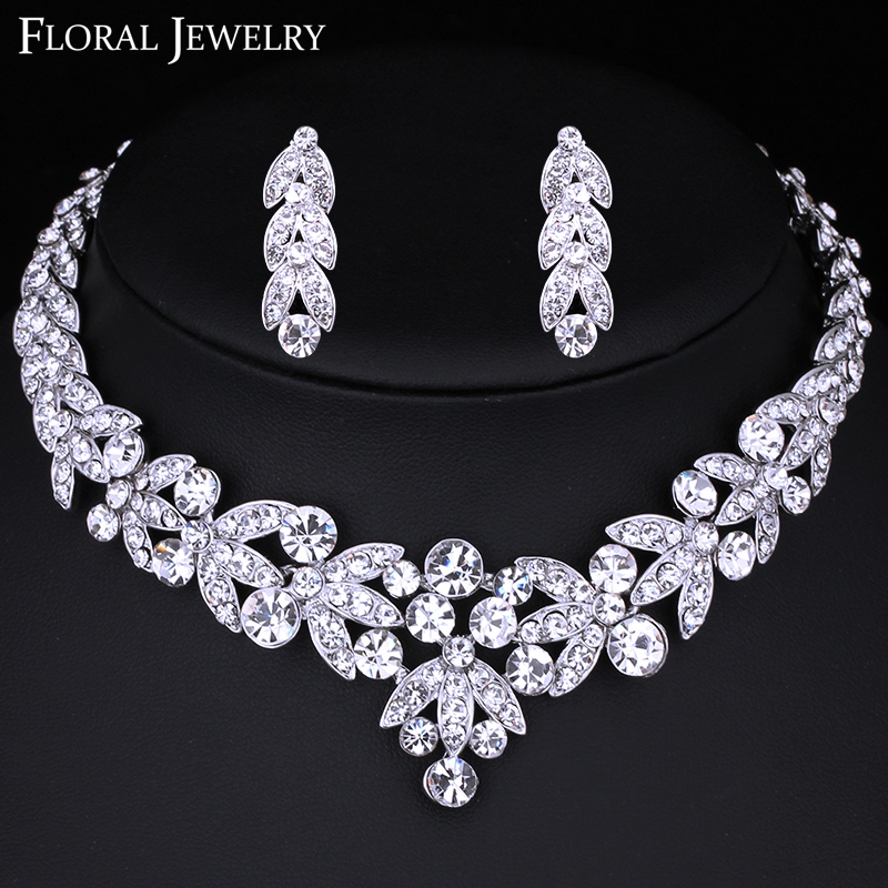 Exquisite New Design Bridal Jewelry Set Top Quality Crystal Luxury Wedding Jewelry Bridal Earring Necklace Jewelry
