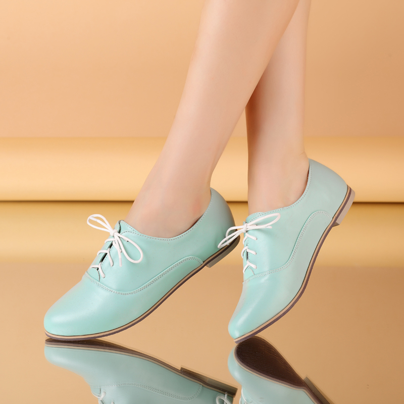 Гаджет  Free shipping new lace casual womens flats soft pu leather air spring ankle shoes women
