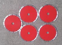 Envío gratis 10 unids buena calidad general purpose 125 * 2.2 * 22.23 * 10 mm segmentada saw para corte en seco / mármol / granito / azulejo