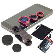 For sony z z1 z2 z3 z4 z5 compact mini fisheye macro wide angle 3 in 1 universal clip metal + glass phone camera lenses