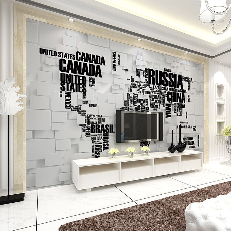 Buy fashion 3d wallpaper world map photo for Buy mural wallpaper