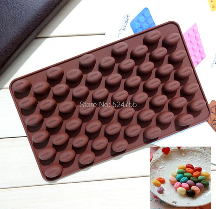Cake Decorating Chocolate Beans : Aliexpress.com : Buy New Silicone Chocolate Mold 55 Holes ...