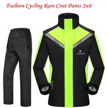 Fashion Cycling Motorcycle Waterproof Rain Coat Pants Suit impermeable bicicleta capa de chuva para motoqueiro cam newton jersey(China (Mainland))