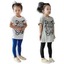 Baby Girls Kids Korean Tiger Printed Casual T-shirt Cotton Shirt Clothes Lovely Tops
