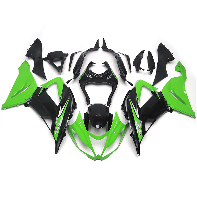 Green Black Fairings For Kawasaki ZX6R ZX-6R Ninja 636 13 14 2013 2014 Injection ABS Plastic Motorcycle Body Kits Fairing Kit(China (Mainland))