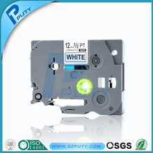 Black on White 12mm TZ TZe Label Tape TZe 231 TZe-231 compatible for Brother PT-7100 PT-7500 PT-7600 machine
