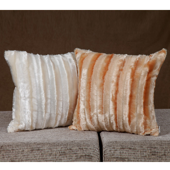 43x43cm decorative cushion cover yellow/white color free shipping(China (Mainland))